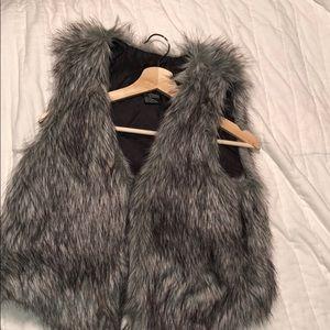 Fox furry vest